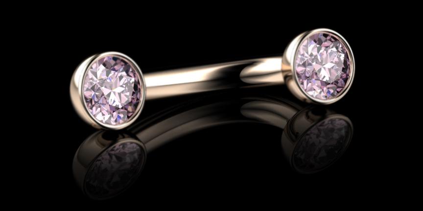 Vivid Pink Diamond Hood Piercing