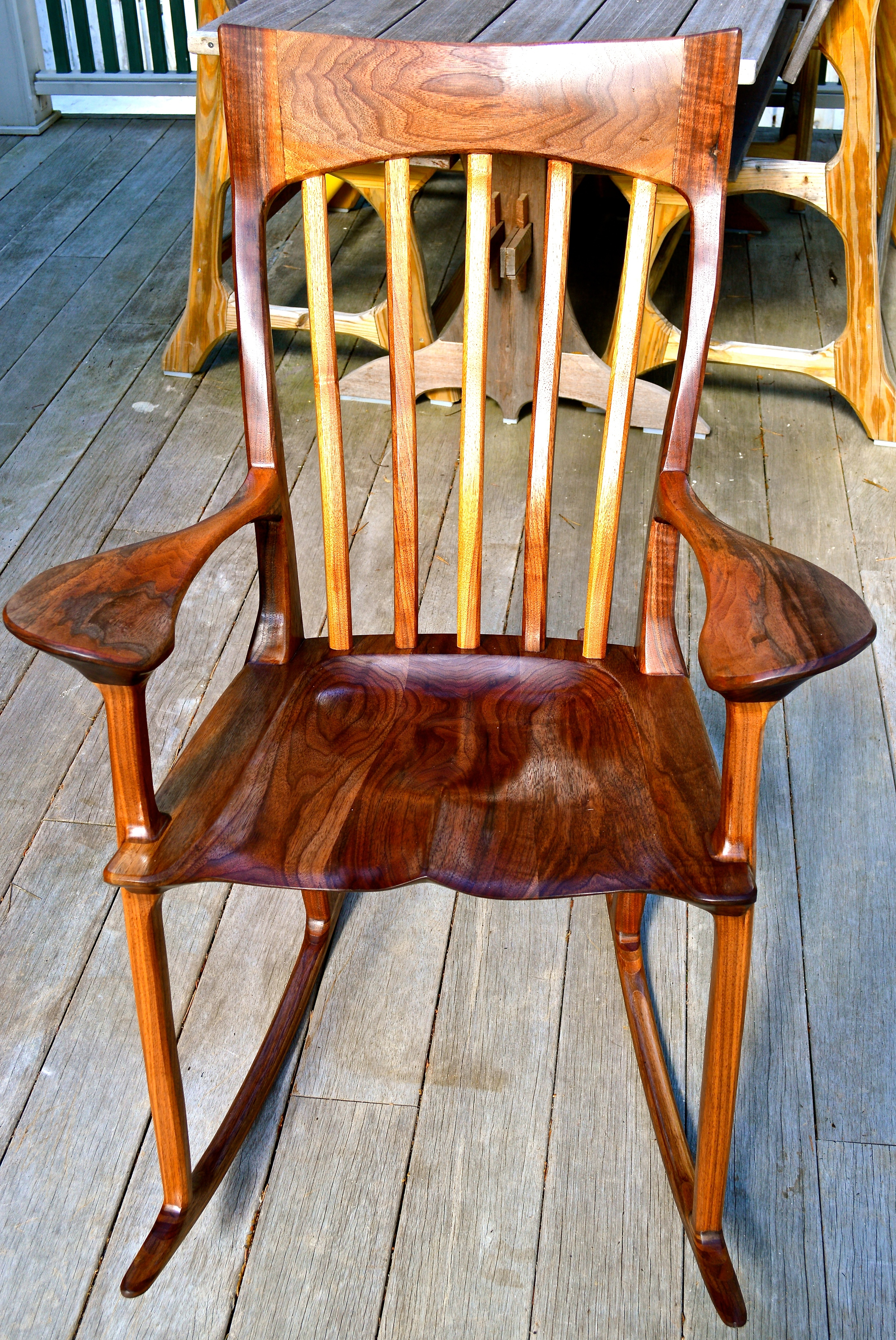 black walnut rocker SOLD
