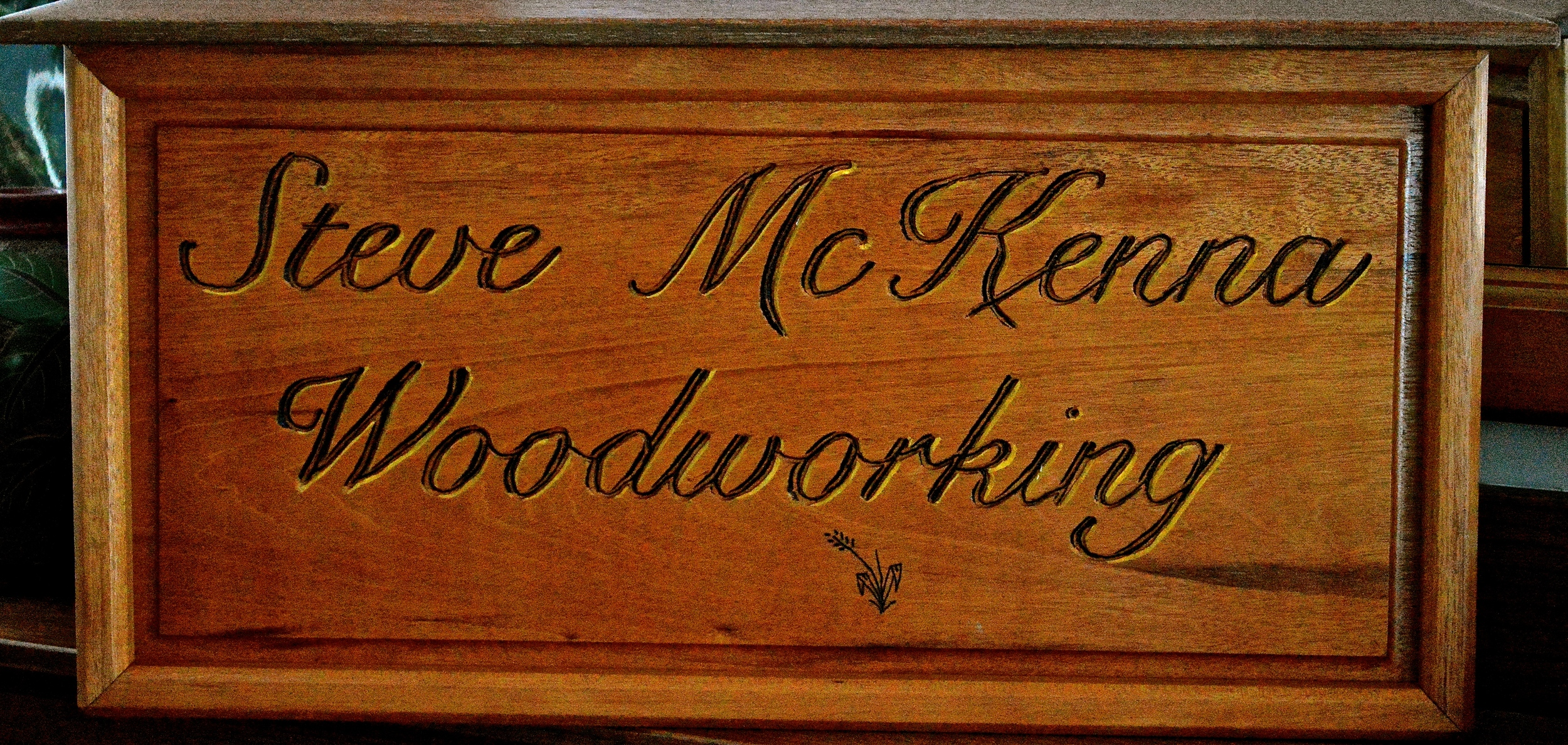 mahogany sign