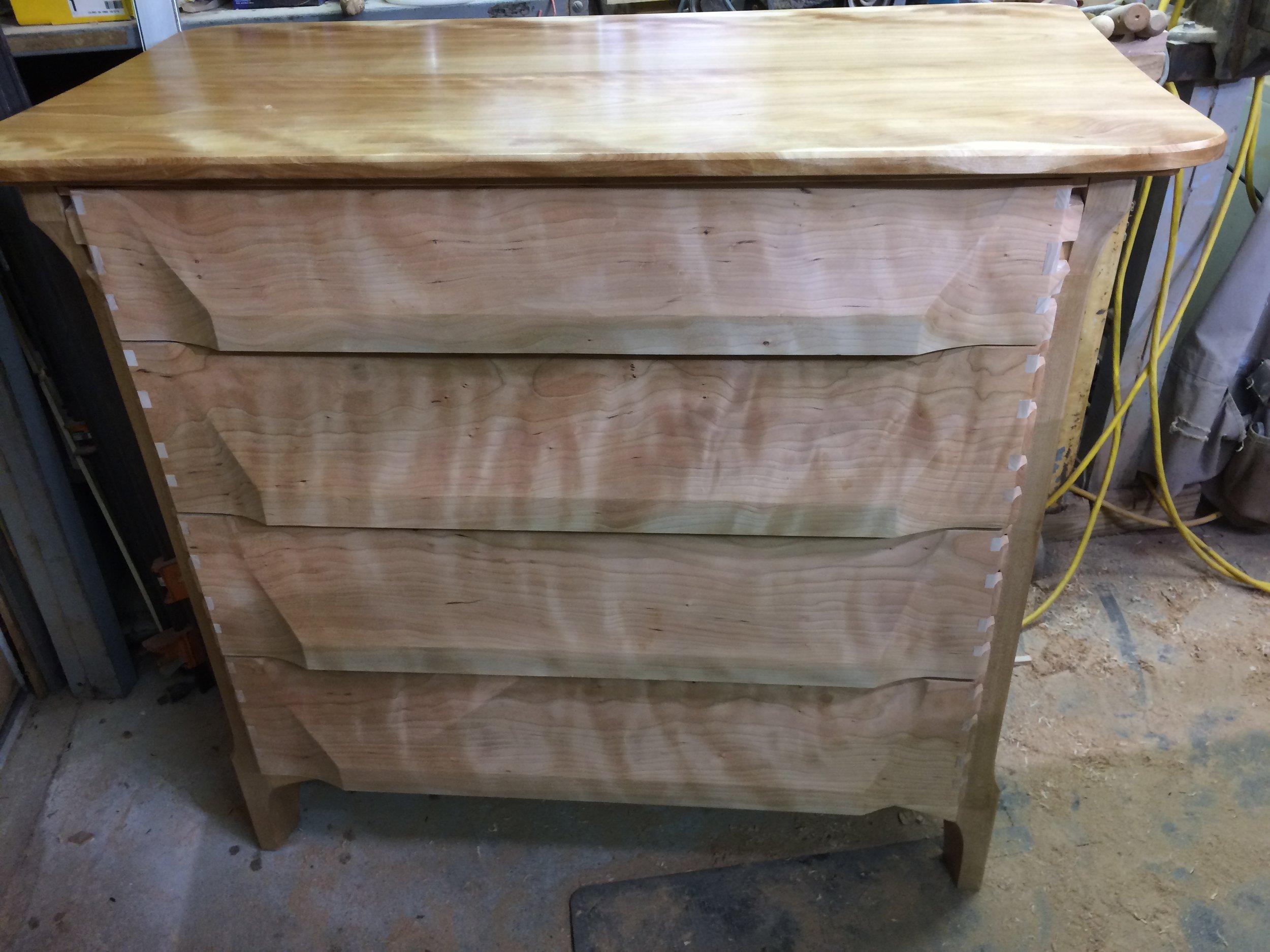 dry fit, drawers installed- undermount Blum soft close sliders