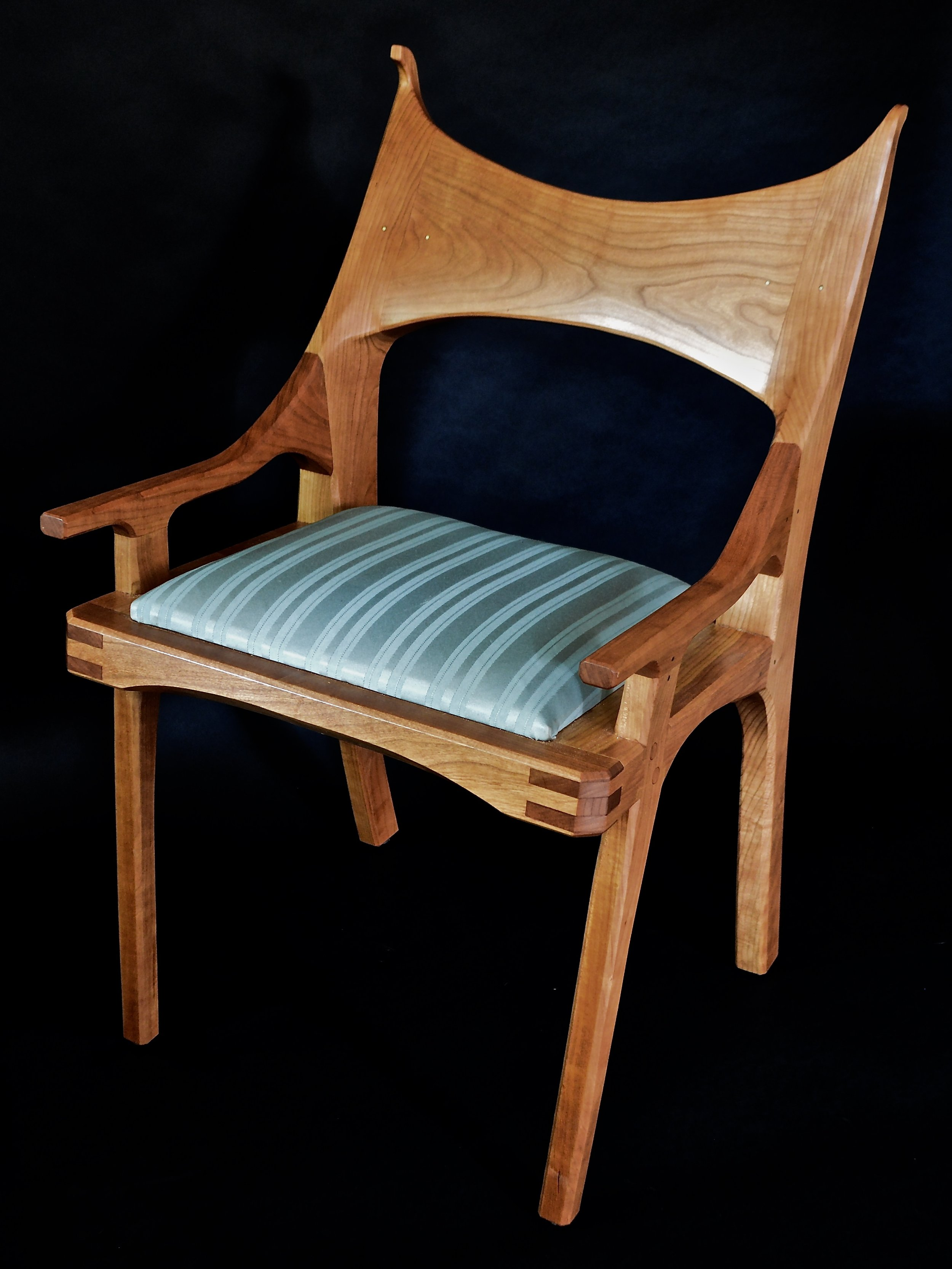 upholstered cherry sewing chair