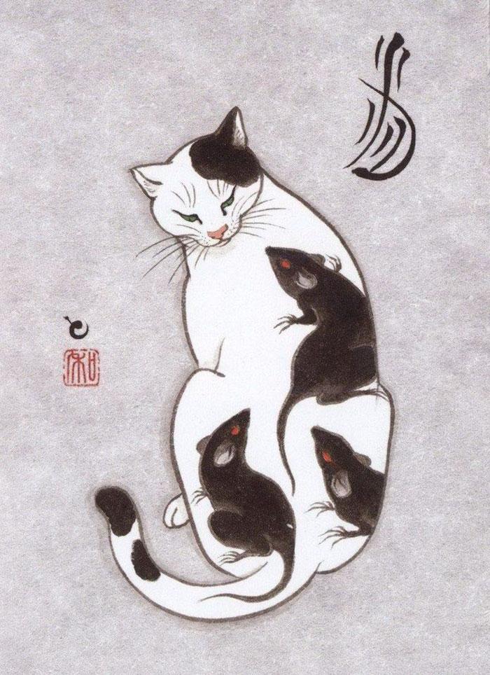 japanese-tattoo-paintings-monmon-cats-kazuaki-horitomo-11.jpg