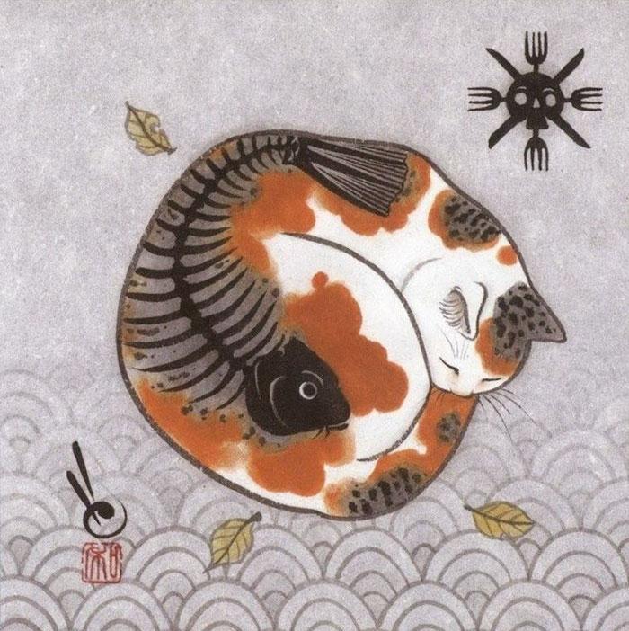 japanese-tattoo-paintings-monmon-cats-kazuaki-horitomo-27.jpg