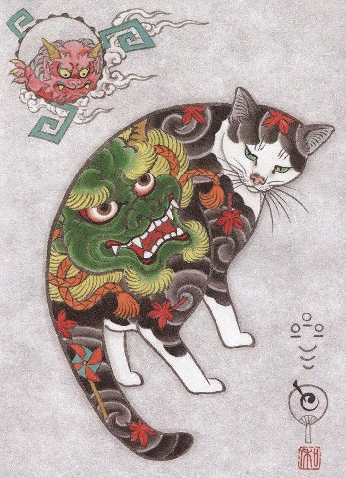 japanese-tattoo-paintings-monmon-cats-kazuaki-horitomo-28.jpg