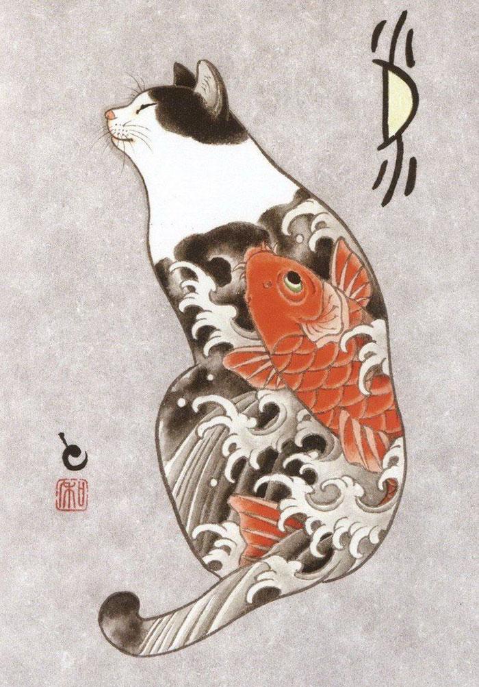 japanese-tattoo-paintings-monmon-cats-kazuaki-horitomo-30.jpg
