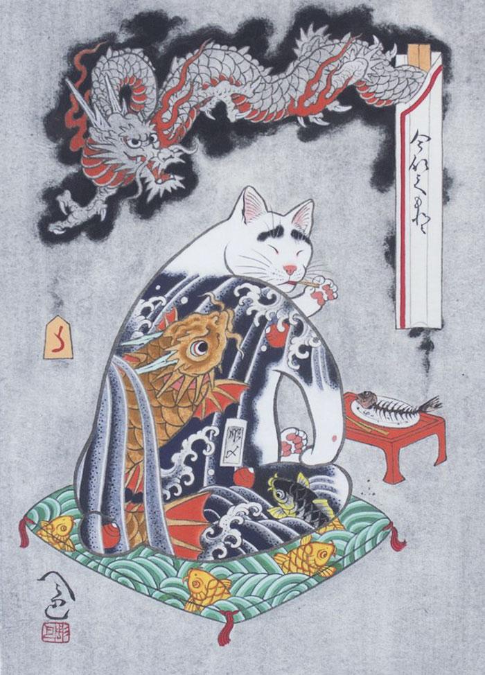 japanese-tattoo-paintings-monmon-cats-kazuaki-horitomo-41.jpg
