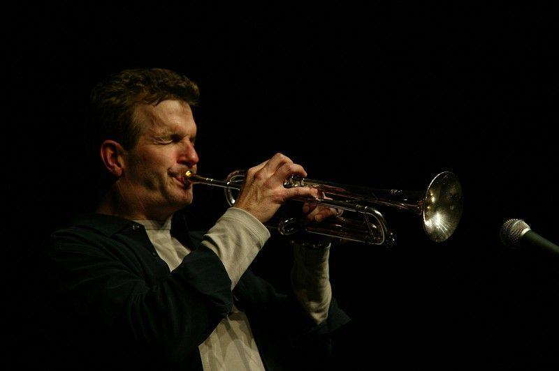Mark Greel playing trumpet in Boston