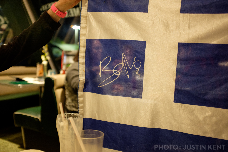 Greek flag signed