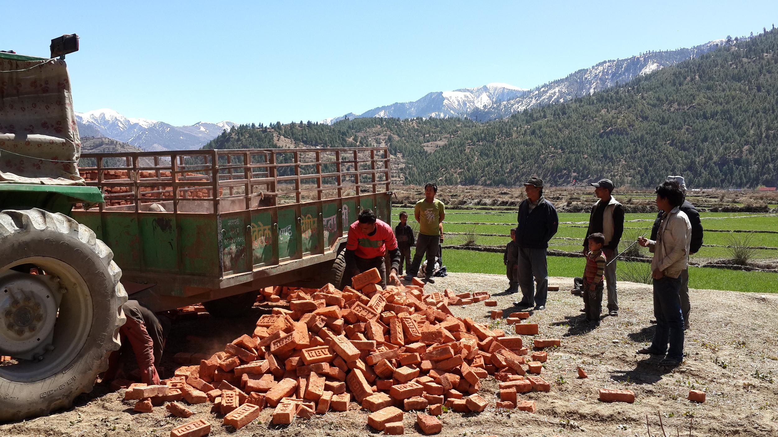 Delivering bricks