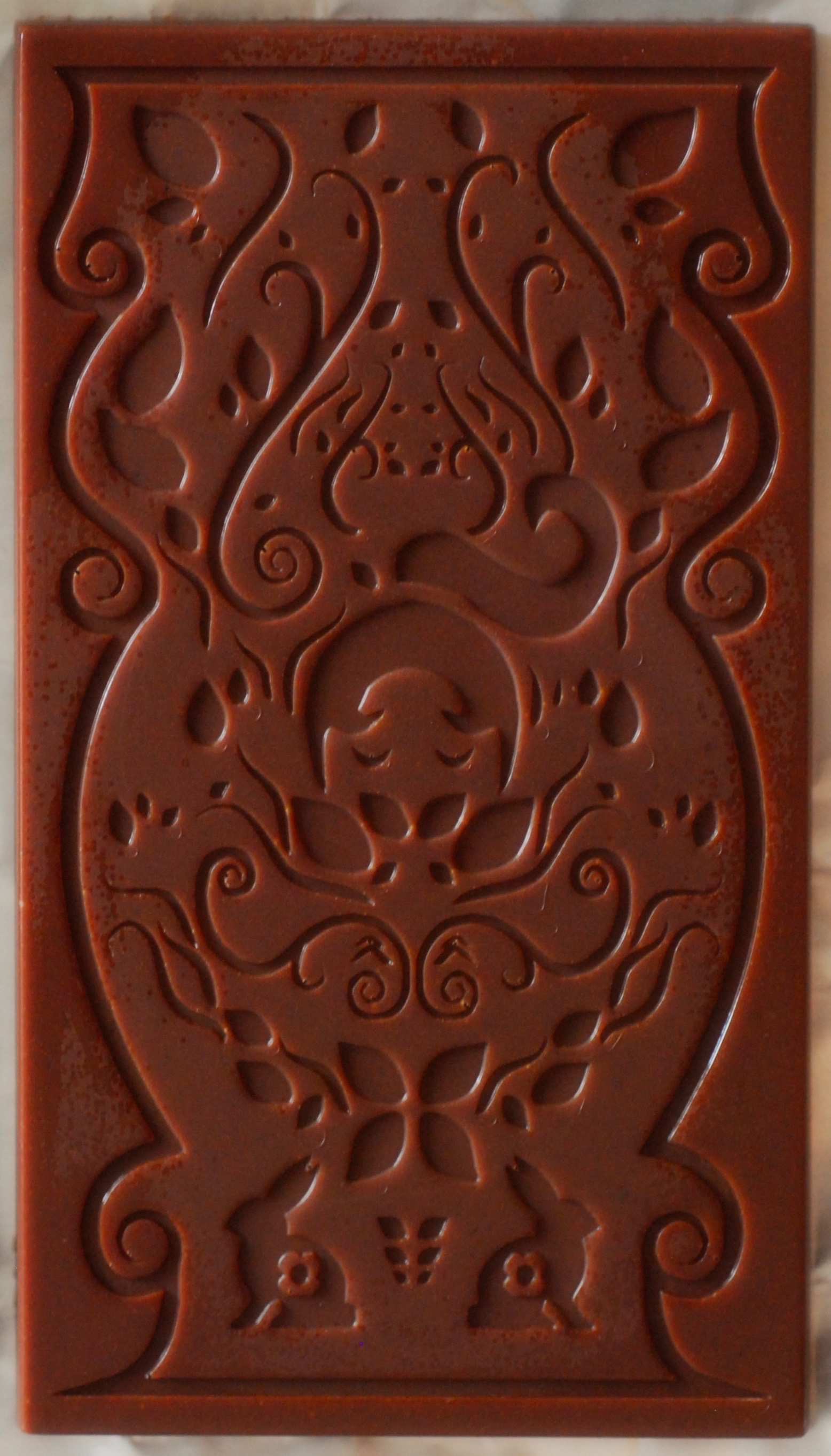 The inspiration - for her design of our chocolate bar came from her own love of chocolate.