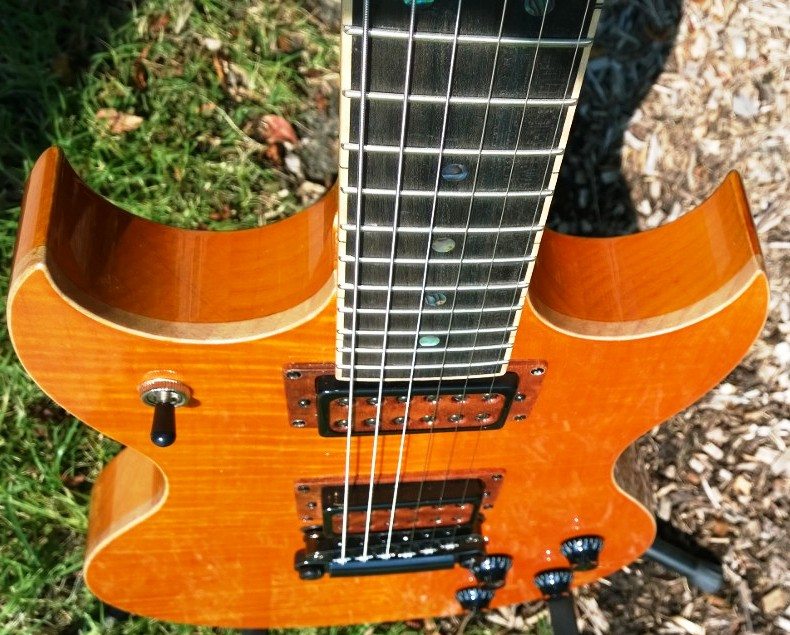 Hawkins Electric Guitar up top