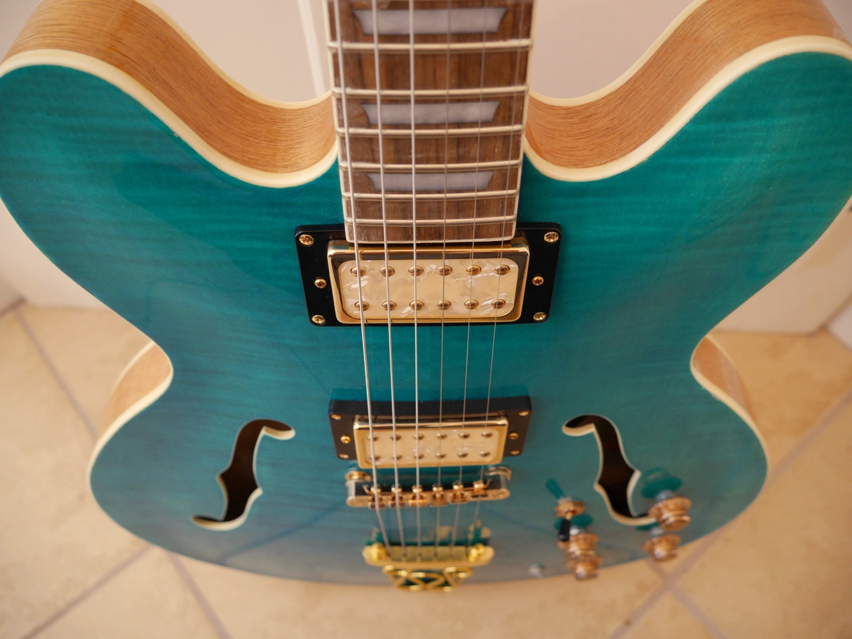 Hawkins Electric Guitar Turquoise blue