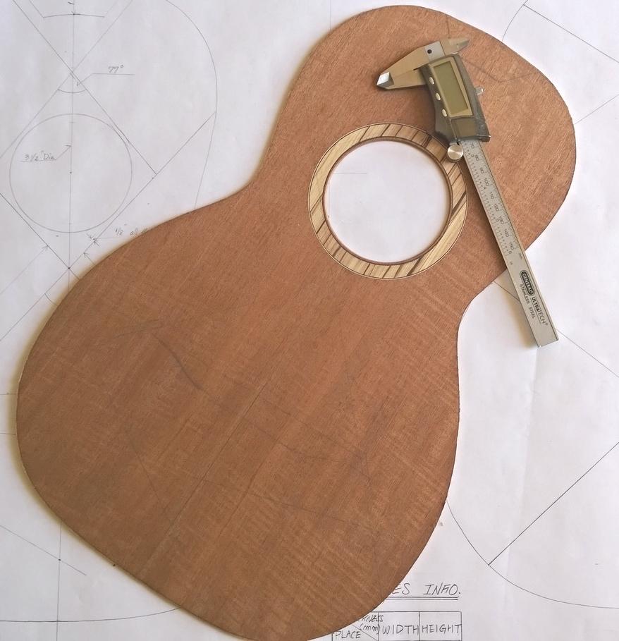 Hawkins Parlor Guitar Top
