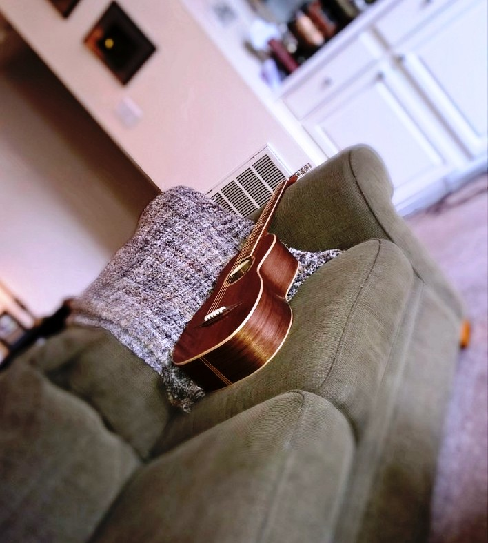 Hawkins Parlor Guitar Couchin It