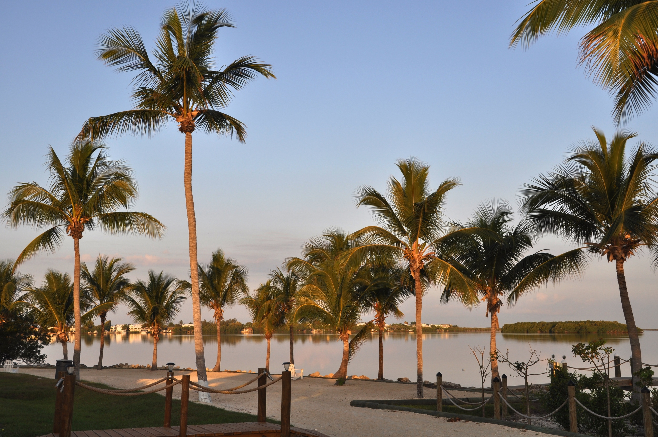 Another bayside view from our Key Largo campsite; we kayaked to the island visible on the right