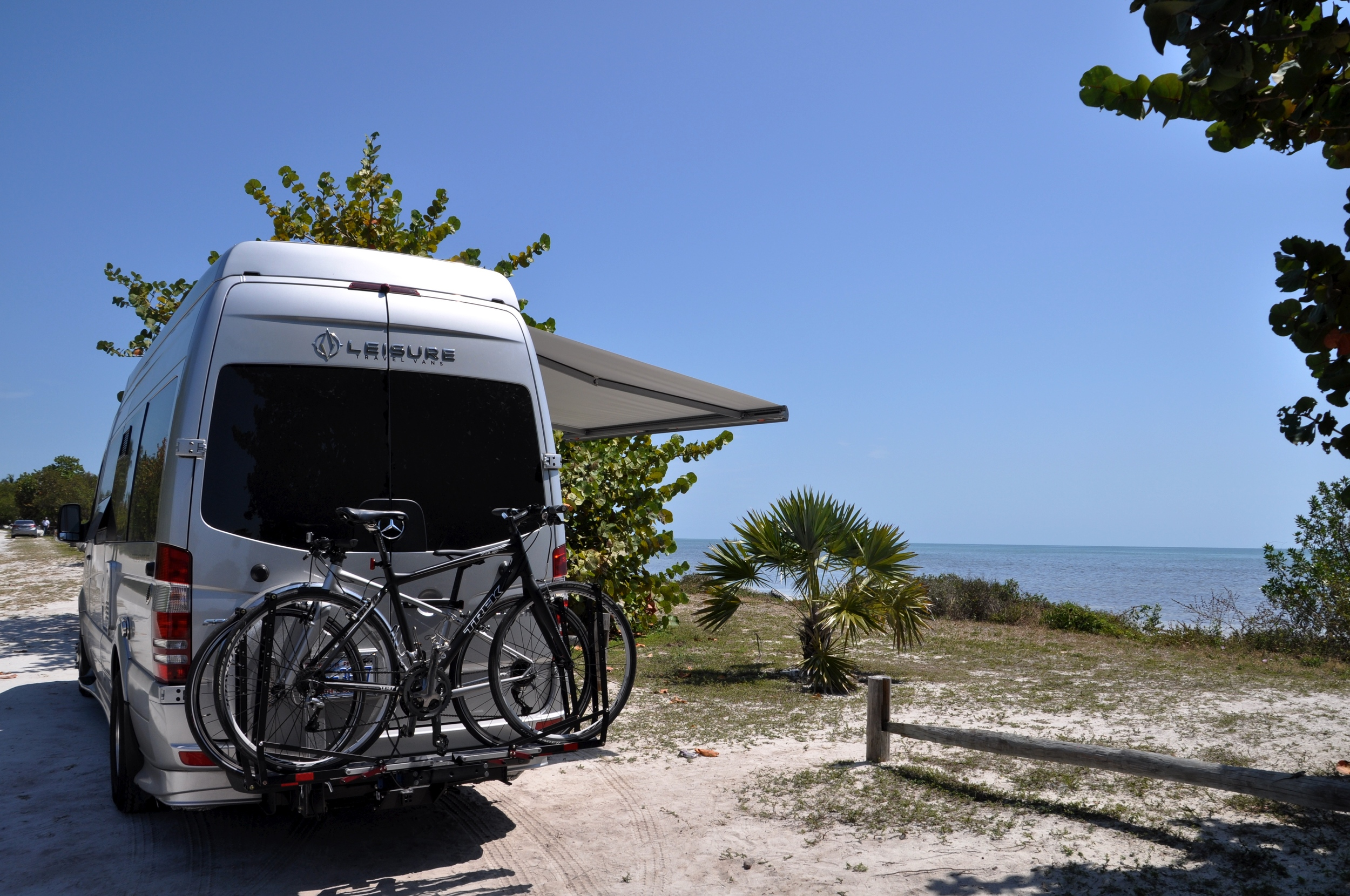 A stop for lunch at Long Key State Park, after bicycling part of the Florida Keys Overseas Heritage trail