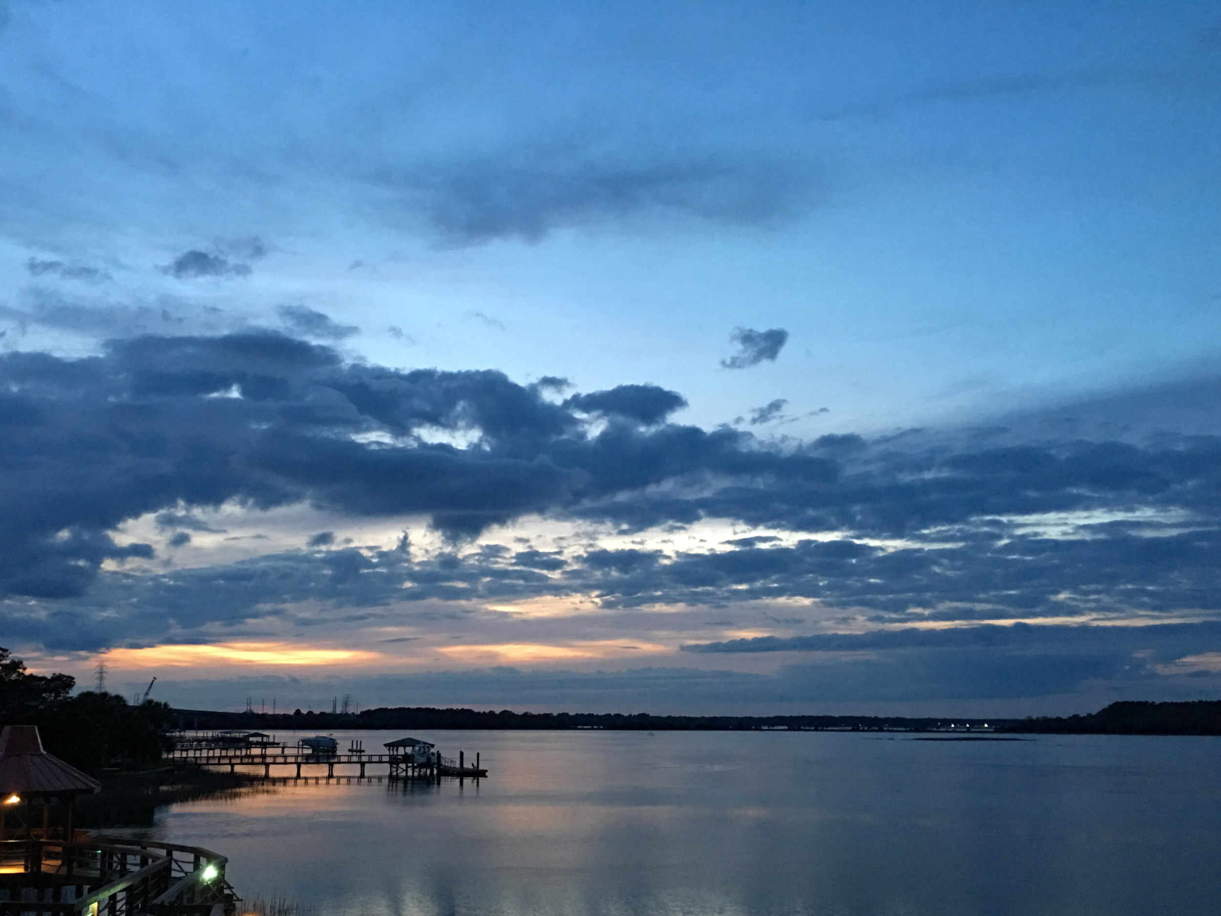 Restaurant view #2: From the Sunset Grille at Hilton Head Harbor RV Resort & Marina