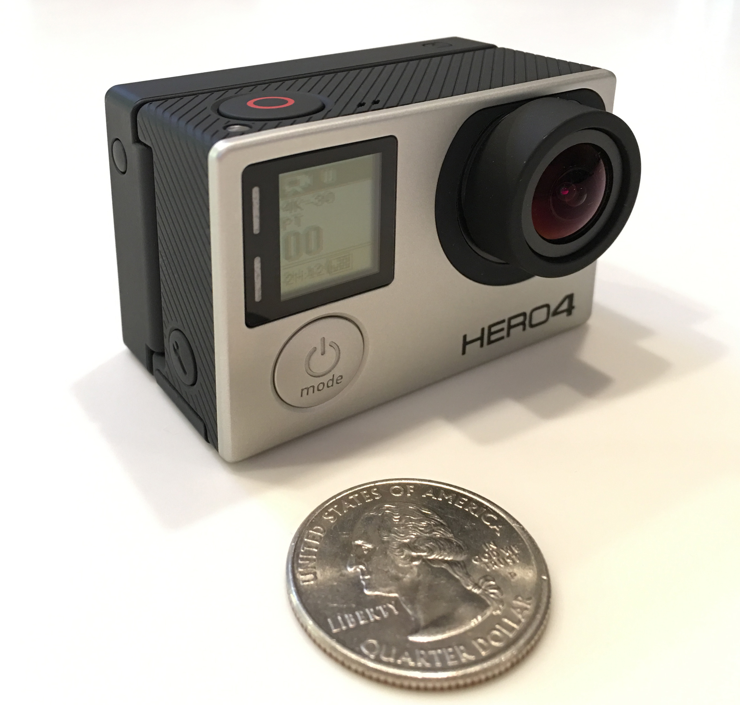 GoPro Hero4 Black with BacPac attached
