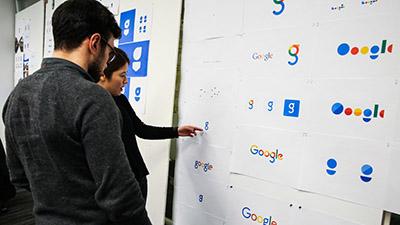 A peek at their logo designing process