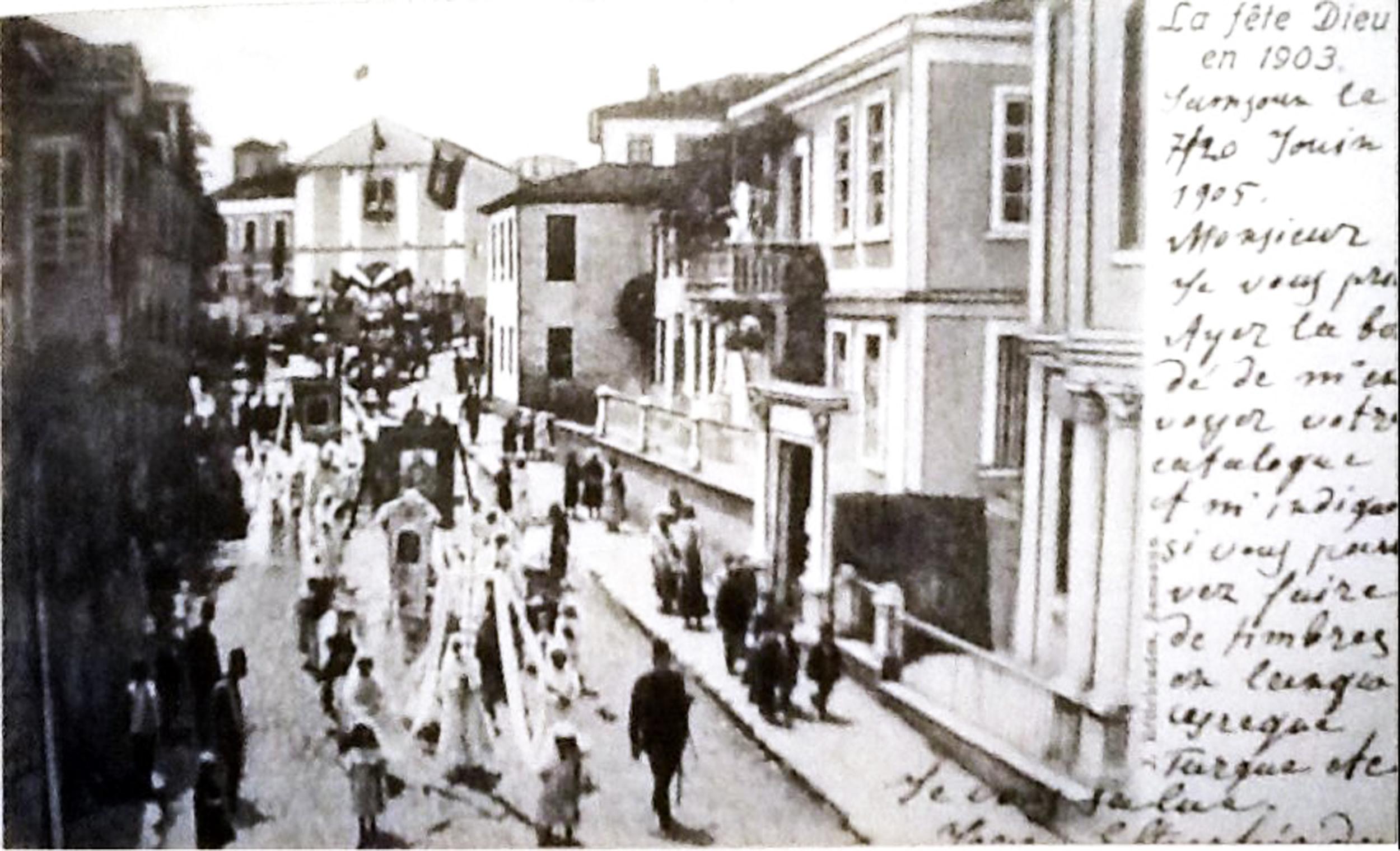 Samsun Katolik Hıristiyan Corpus Christi Kutlaması 1903.jpg