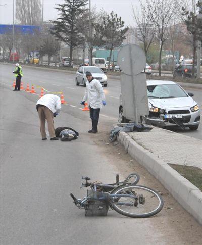 İbrahim Kızılay'ın hayatını kaybettiği kaza sonrası.