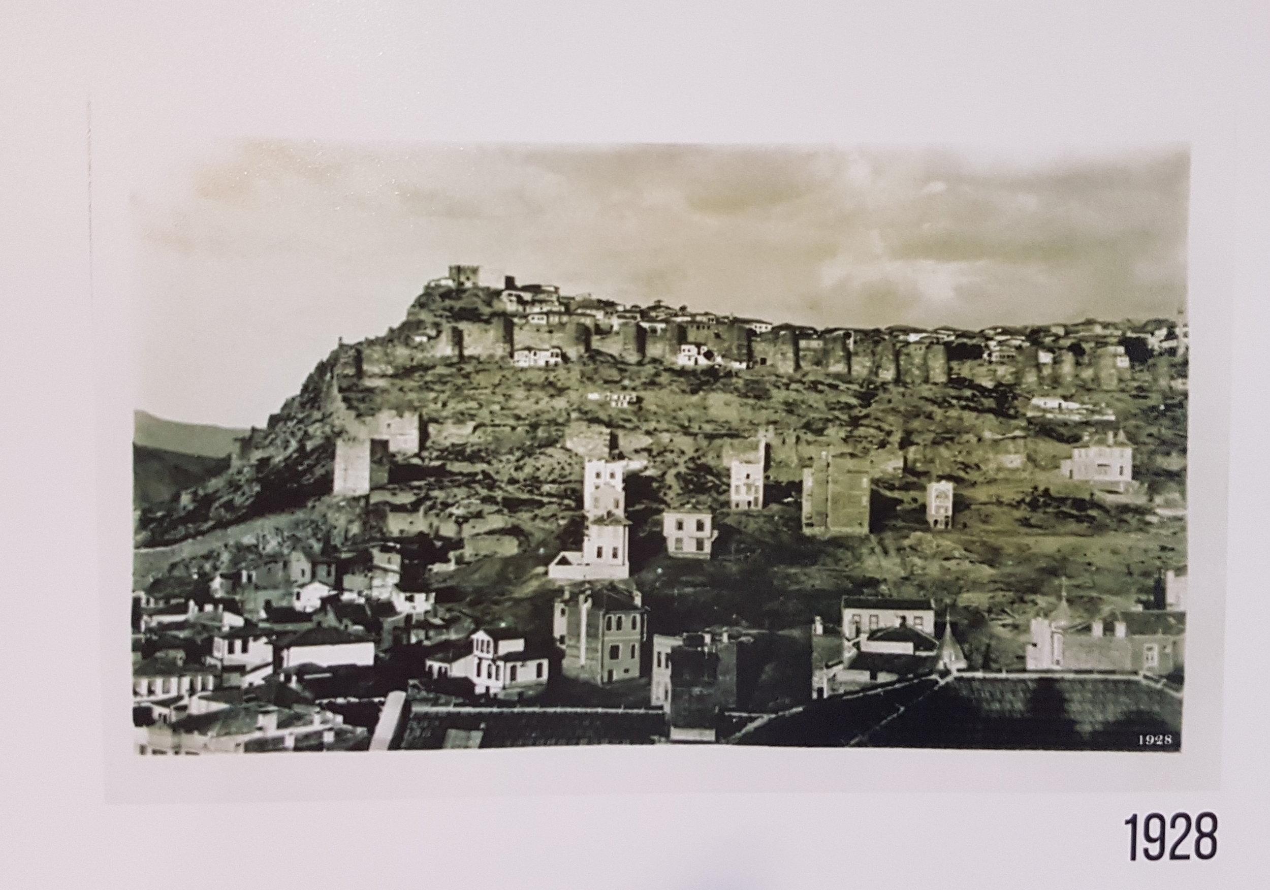 1928 Ankara Kalesi Görünümü - Kaynak: Baykan Günay Arşivi