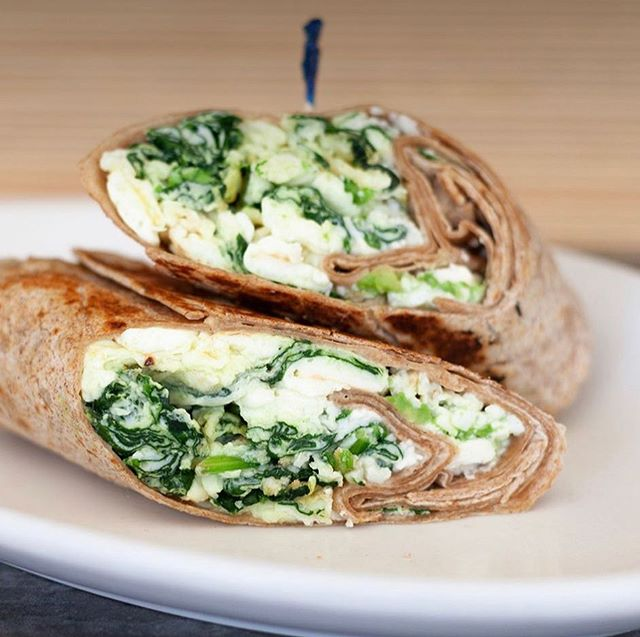 Laura's wrap... egg whites, spinach, feta cheese and avocado warped in a grilled whole wheat tortilla