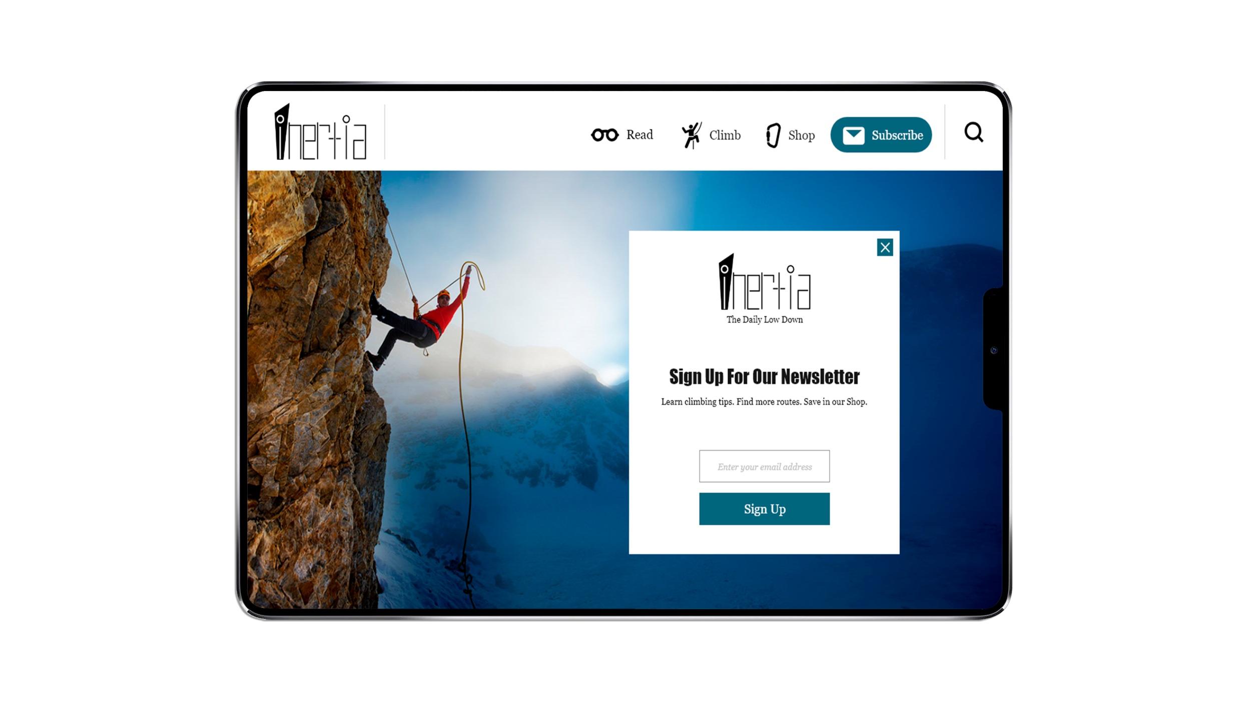 Inertia Newsletter Prototype iPad App