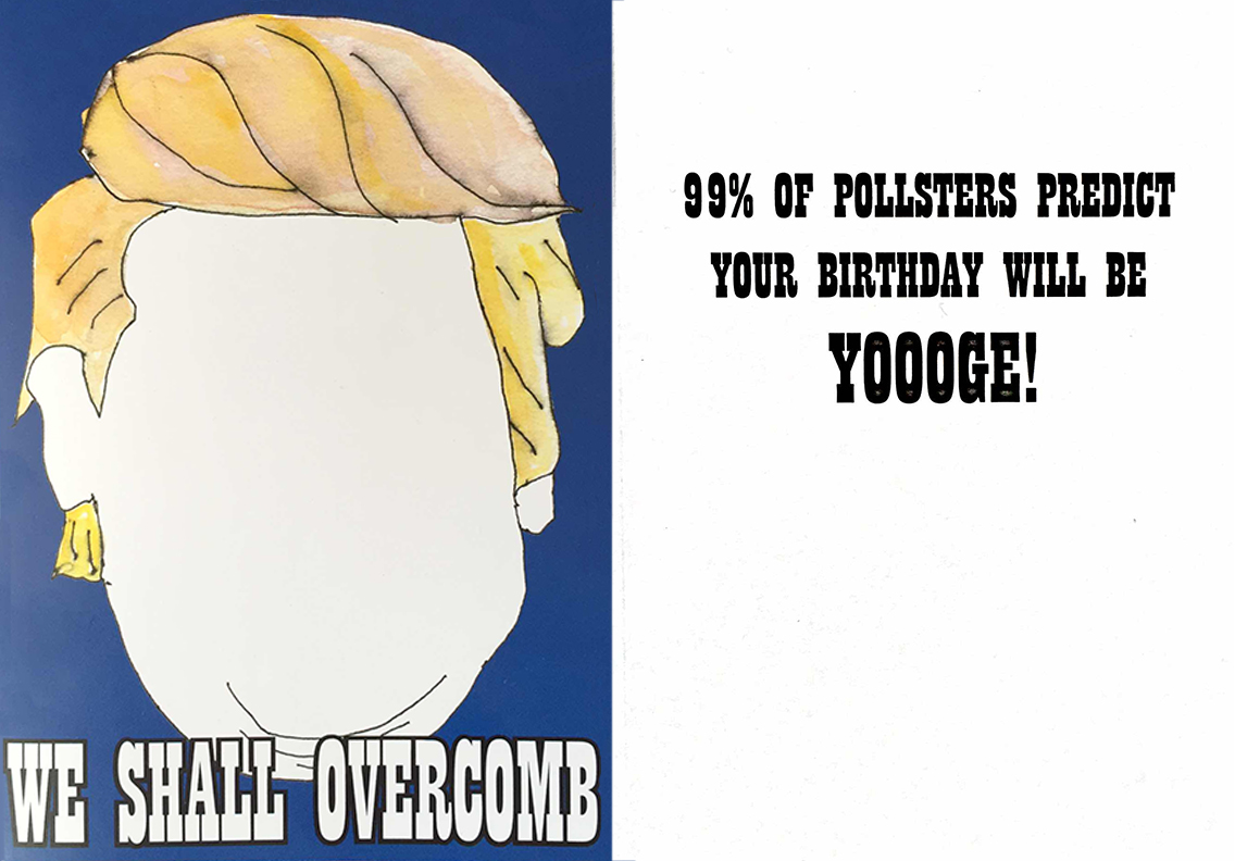 Our greeting card is available as part of the Election Collection at select large retailers nationwide.