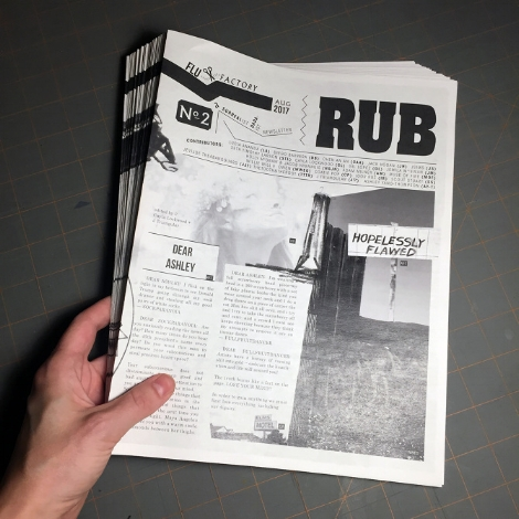 Rub  is  Flux Factory's  monthly NOW WAVE newsletter. Send us your dreams.
