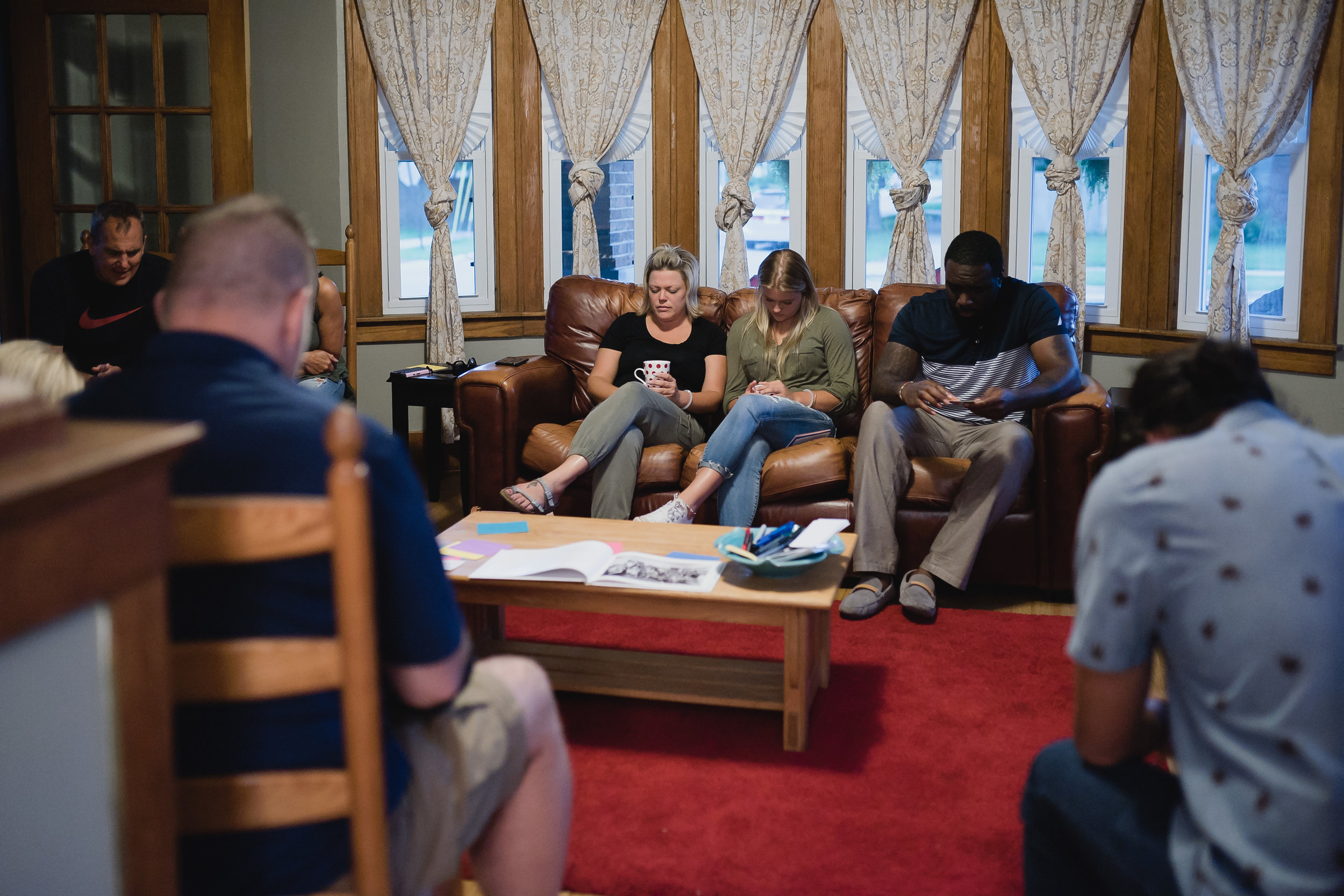 10 adults and a handful of littles gathered in August 2016 to pray together for the future of Grace's Table.