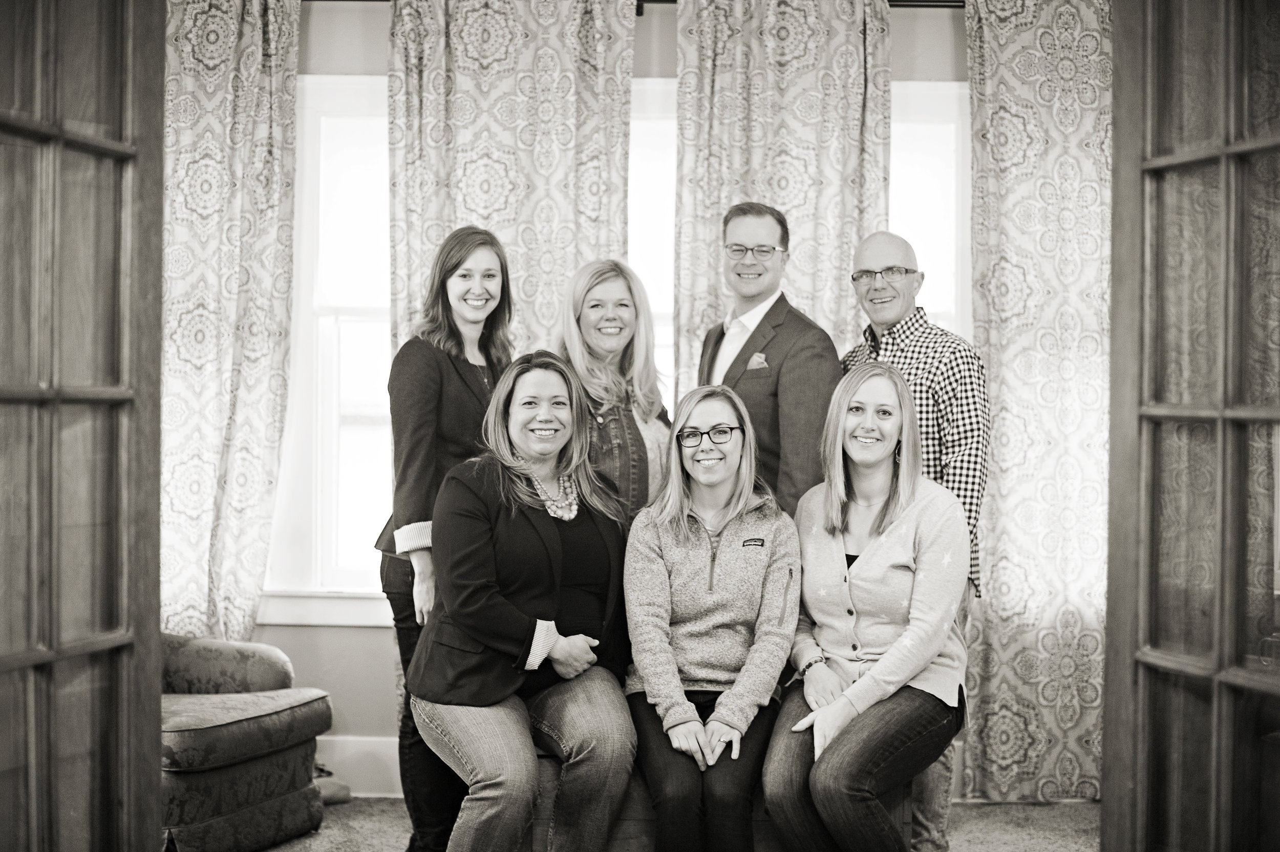 Back Row: Kristin Paul, Lisa E. Anderson, Brian Burch, Wendell Anderson Front Row: Emily Halloran, Meaghan Miracle, Amy Butterfield