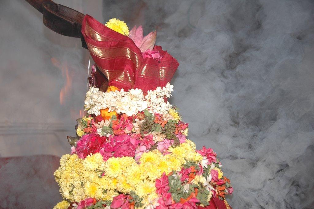 Sahasrachandi Poornahuti at Bhaskara Prakasha Ashram. Photo by Subramanian Ramanathan, October 2008.