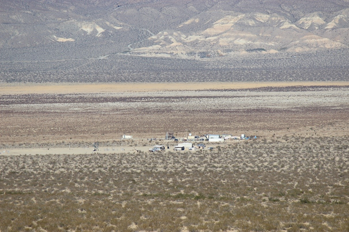 View of the Mojave Test Area and Friends of Amateur Rocketry site from the remote ground station.