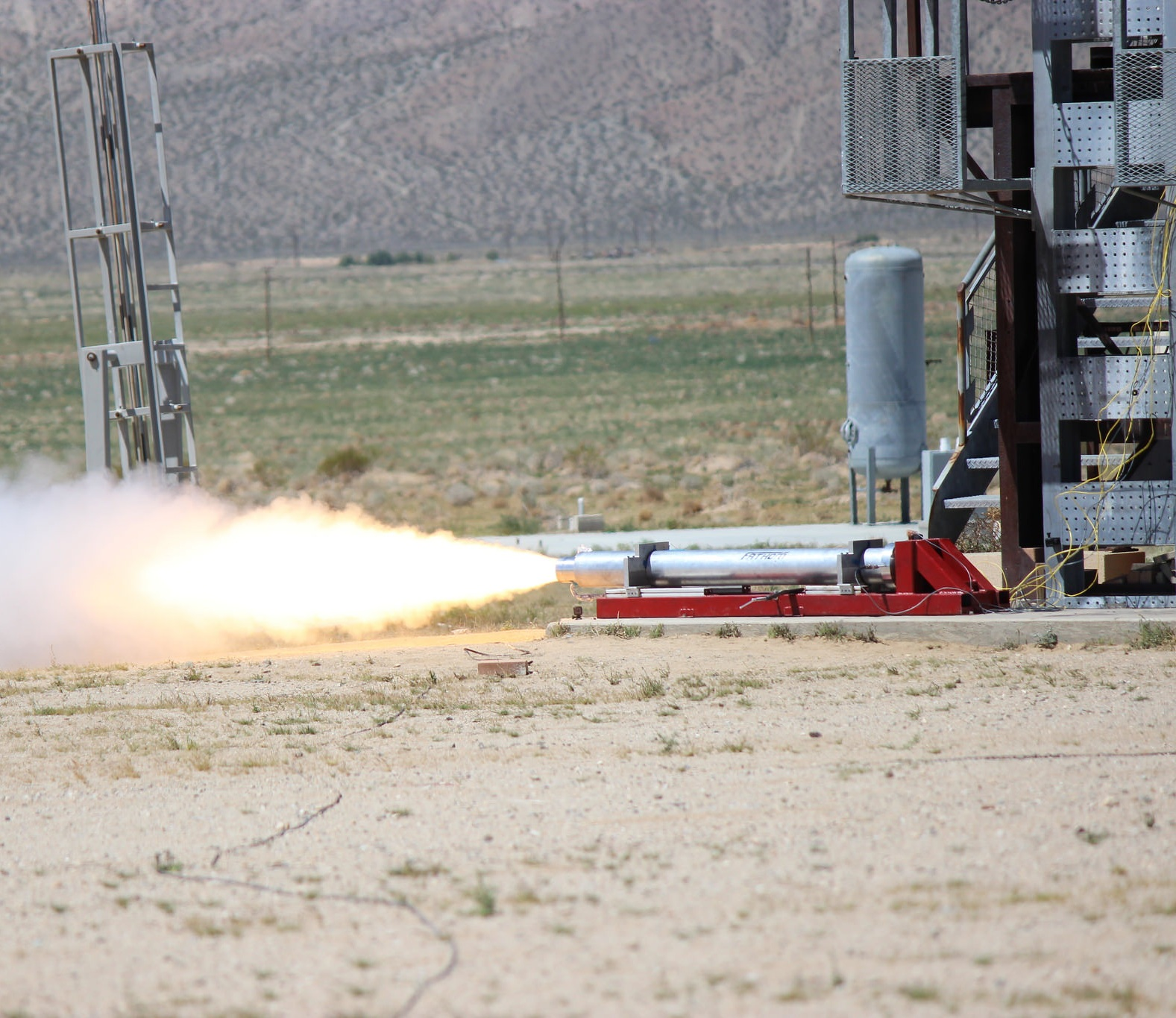 Second static fire test for Fathom on April 16, 2016.