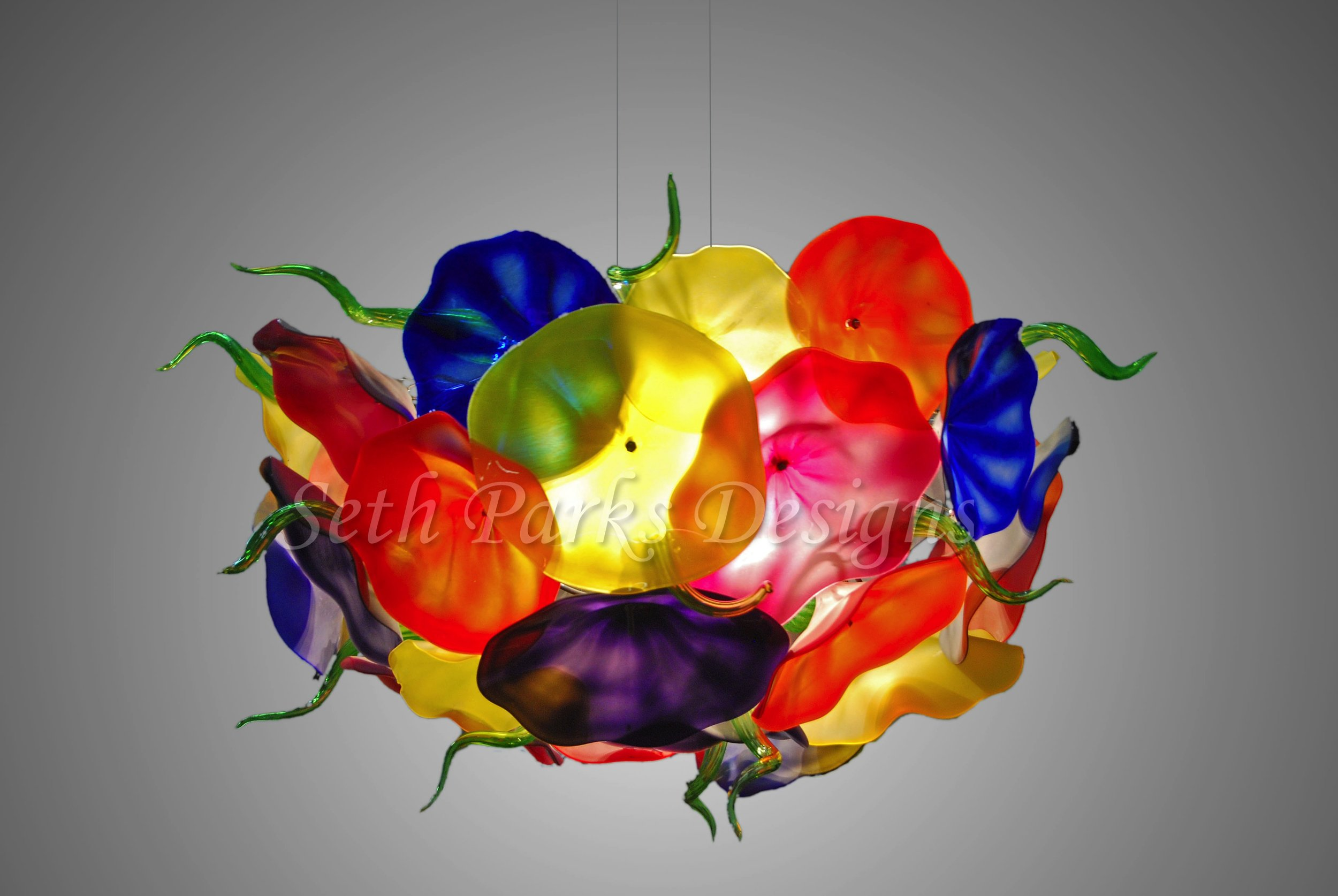 Blown Glass Floraele Chandelier 222