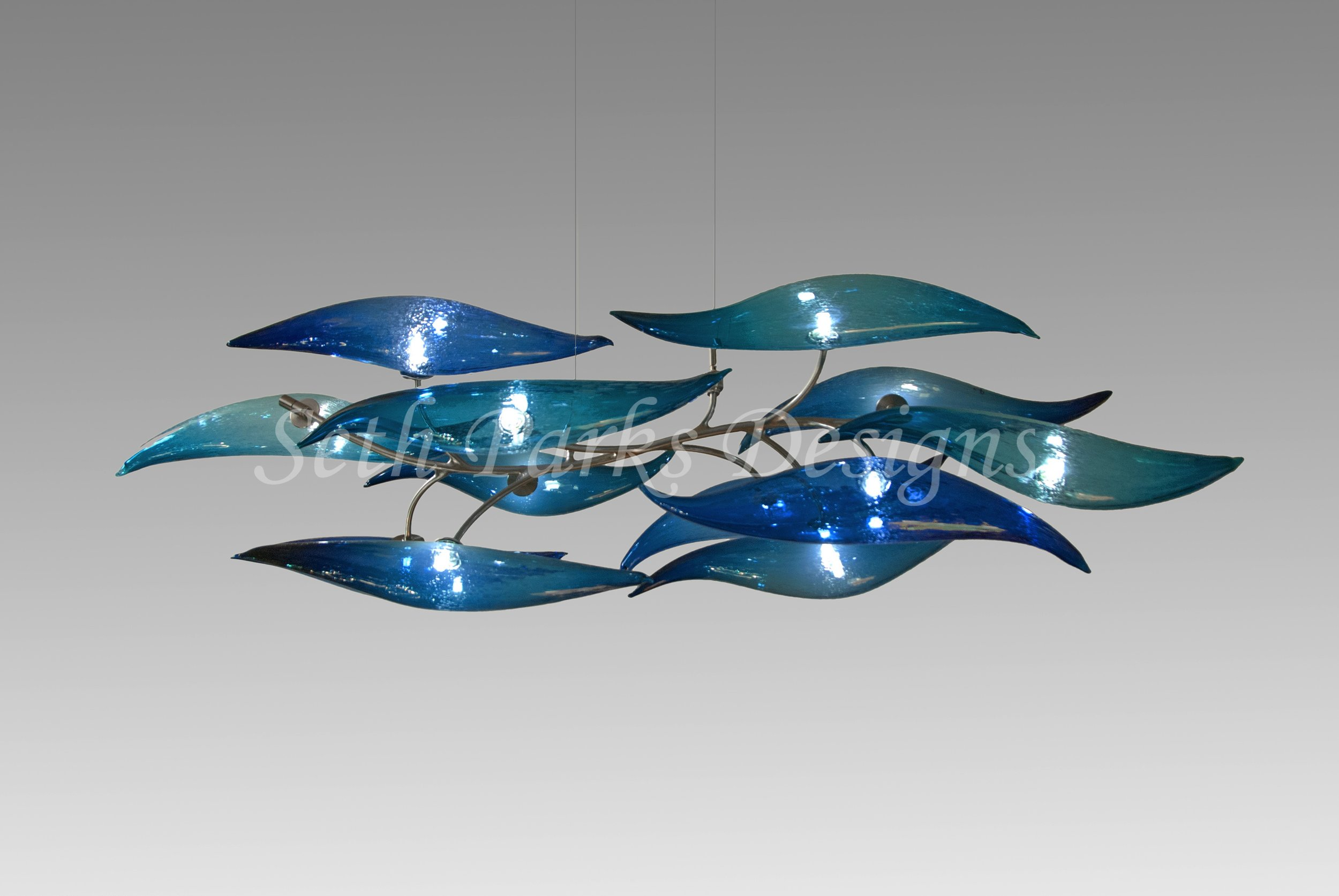 - Water Wind Fire Blown Glass Chandelier CollectionRequest a Quote