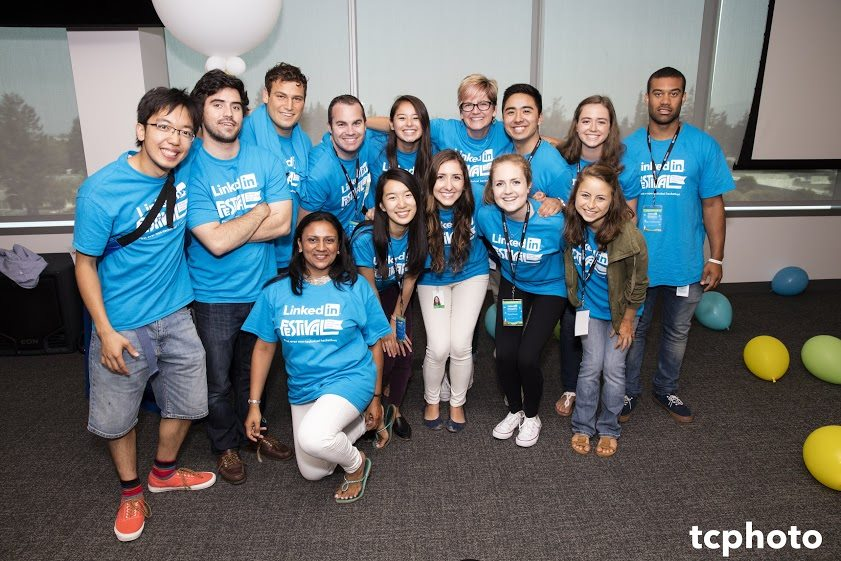 LinkedIn Festival organizing team after the awards ceremony. Photo courtesy of Tony Chung.