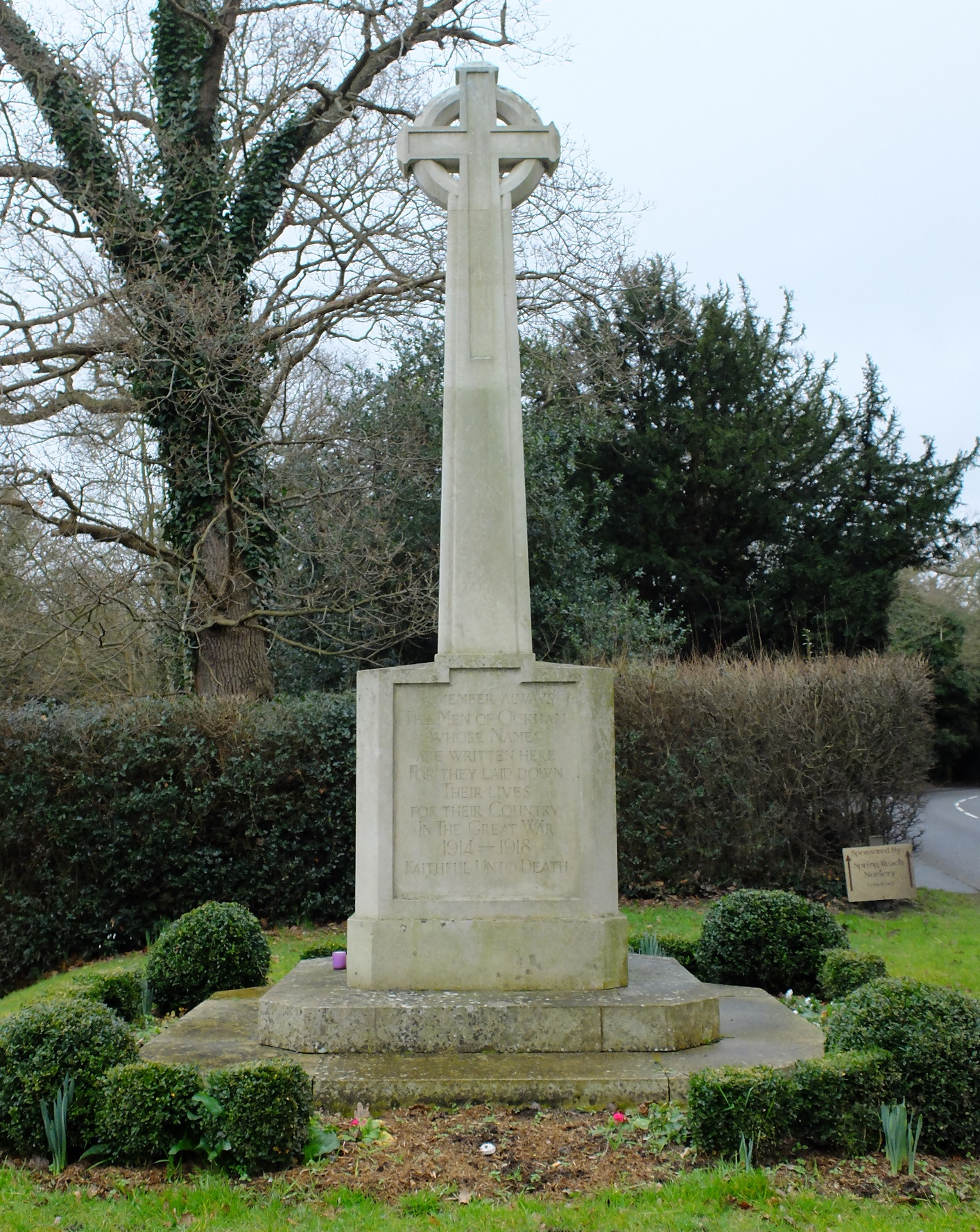 In memory of those who lost their lives in the Great War