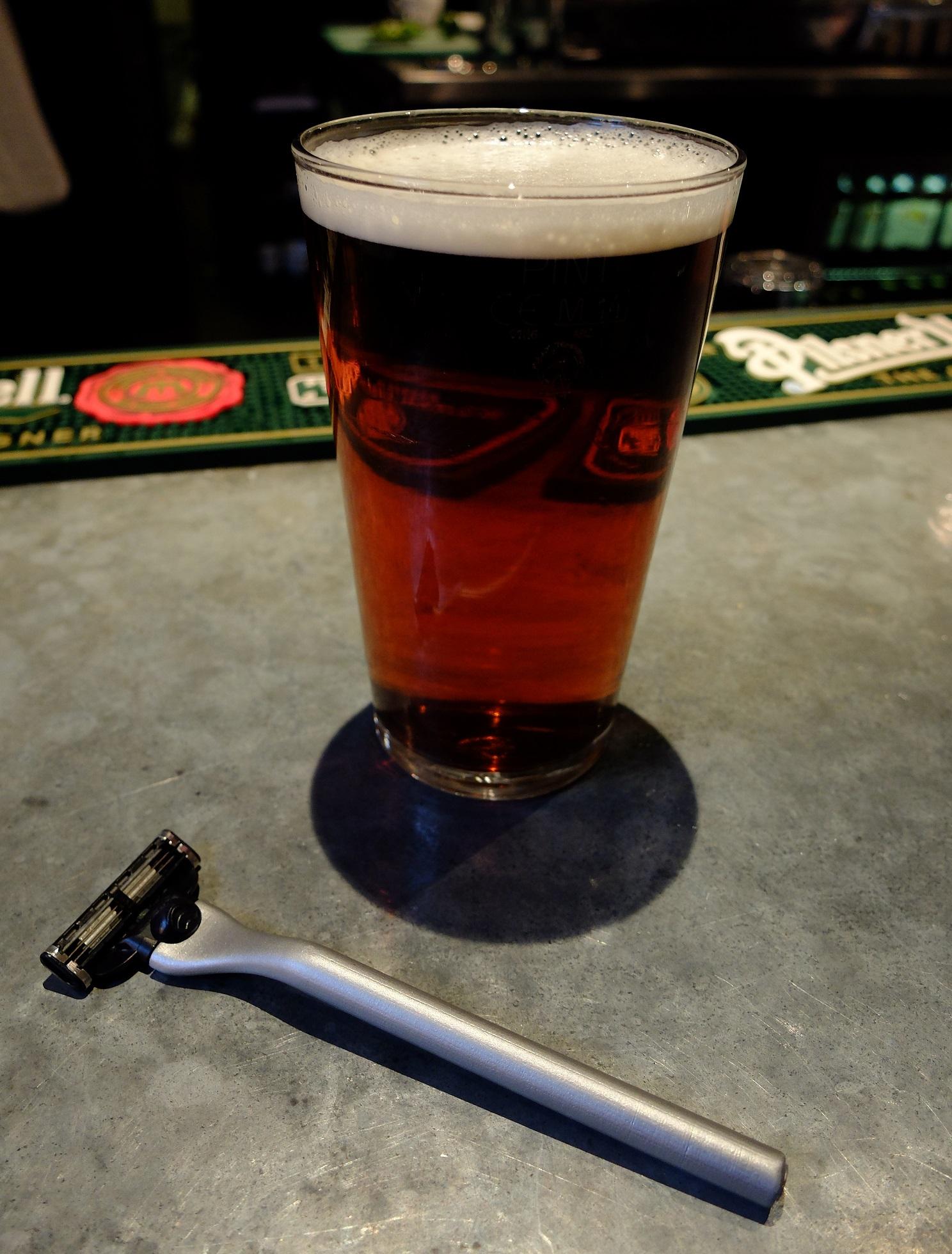 A well-earned pint