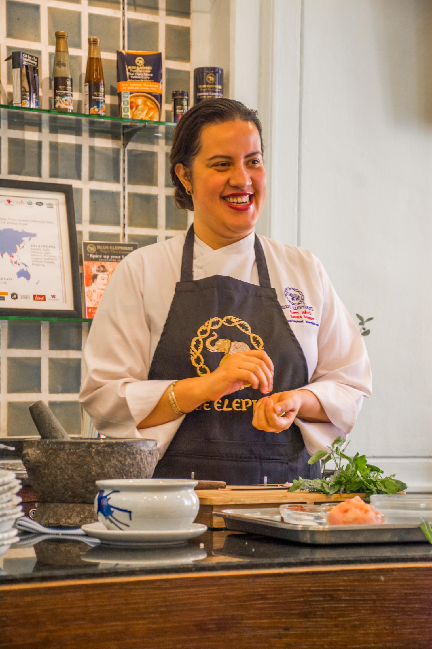 Chef Sandra teaching us a few techniques