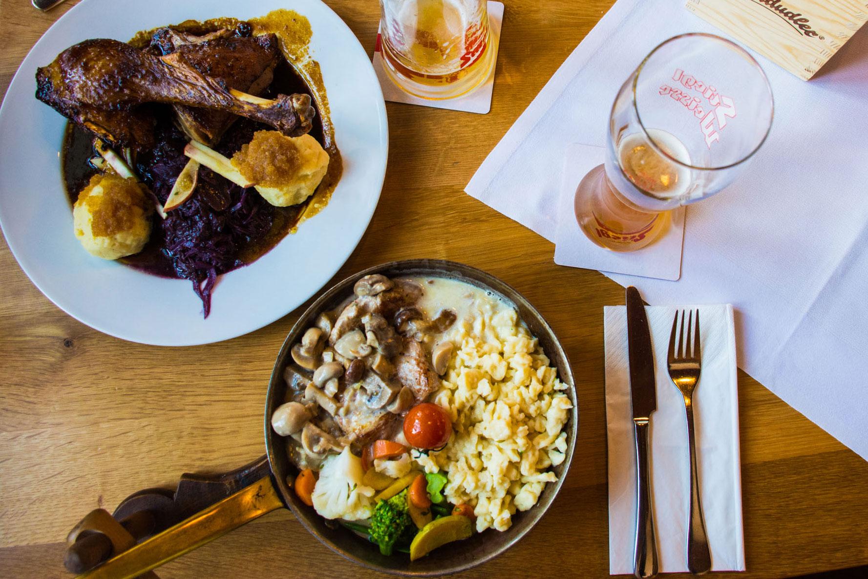 Our Thanksgiving feast in Salzburg, Austria