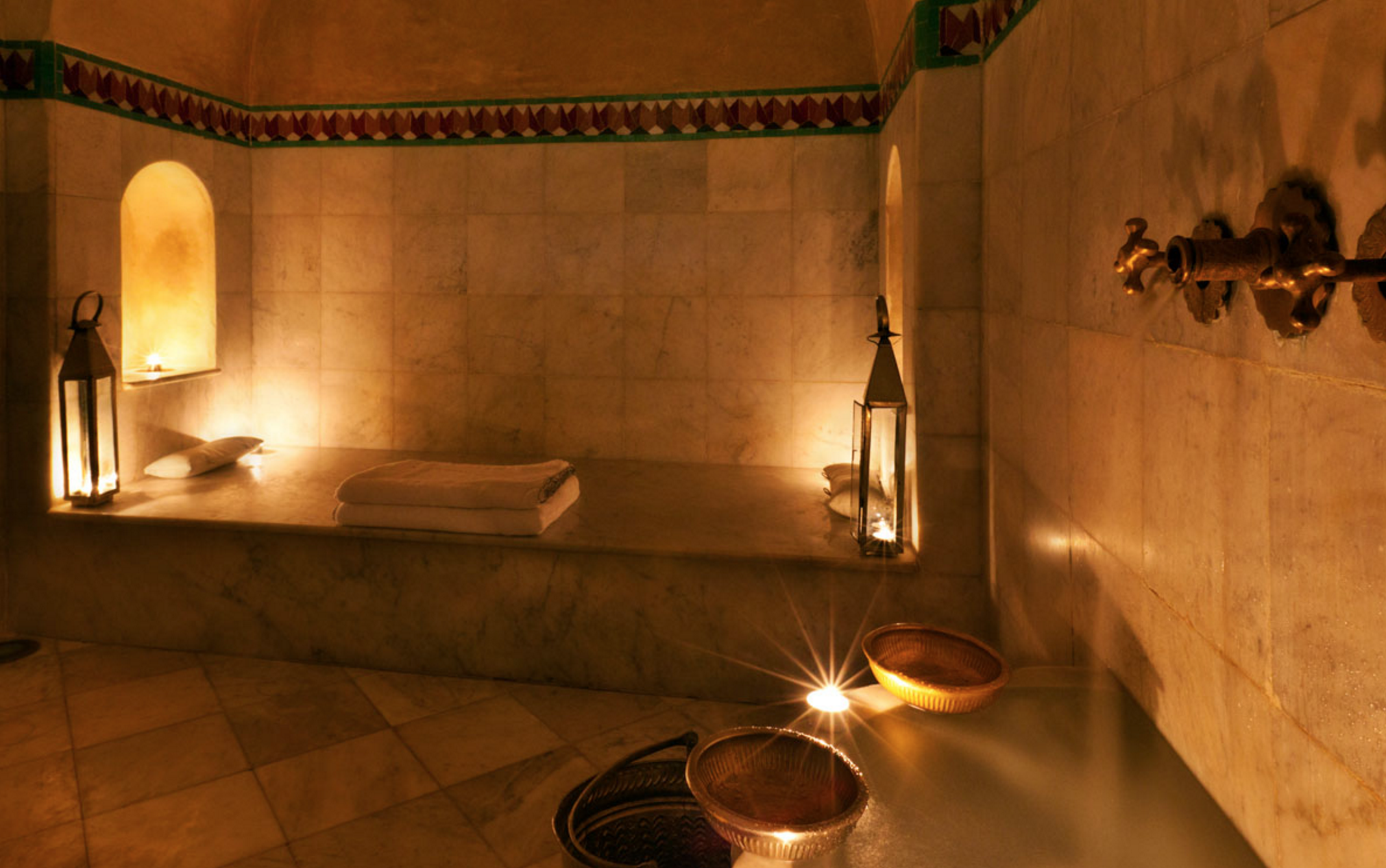 The beautiful and intimate Hammam at Riad Farnatchi