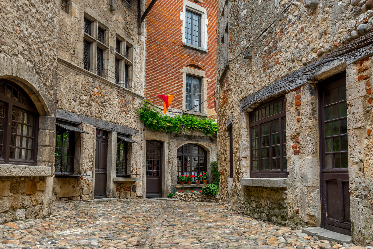 The Medieval town of Perouges, France
