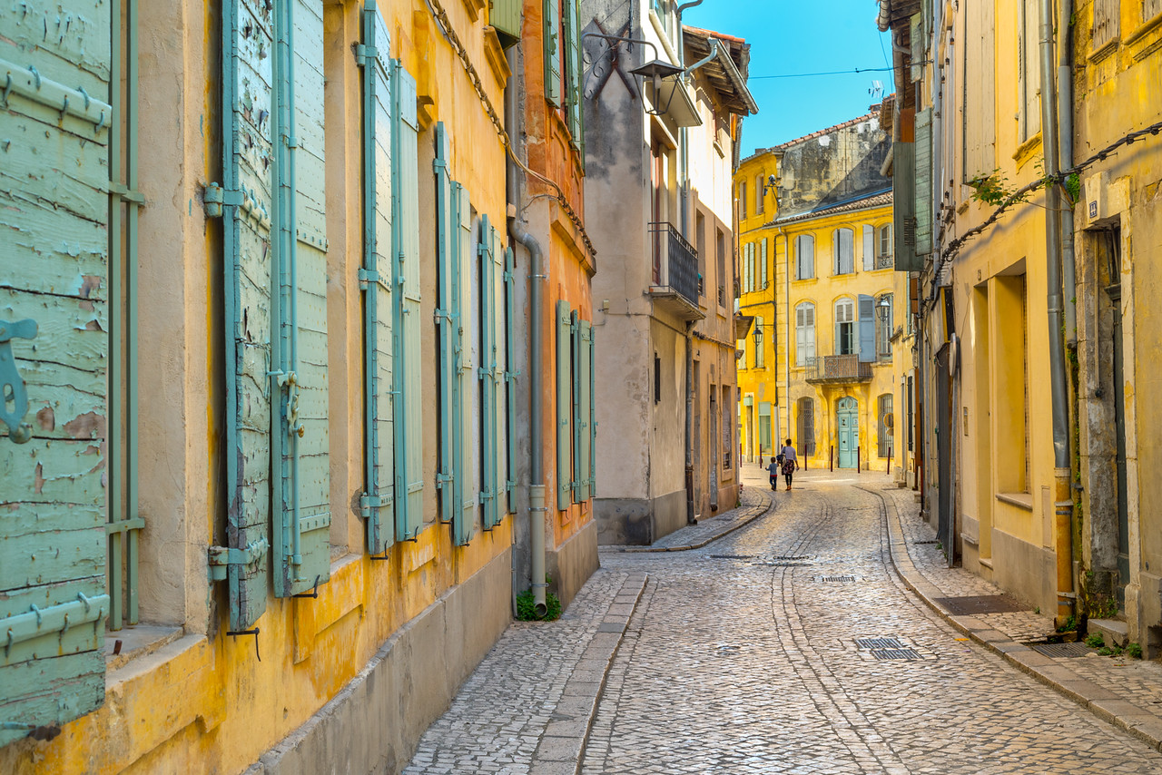 The small village of Tarascon en Provence, France - so colorful and bright