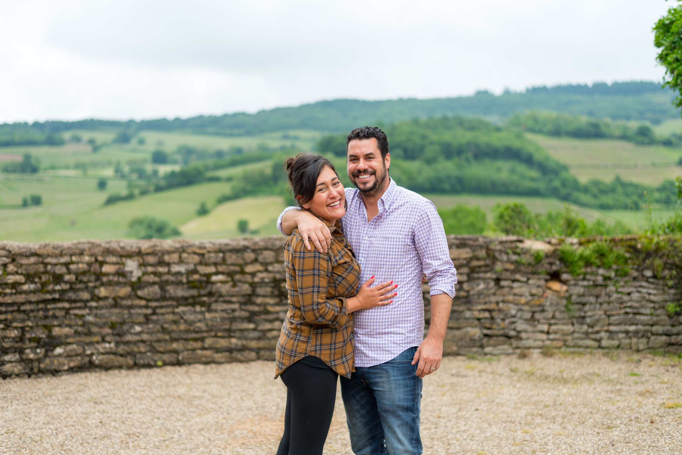 Chris and I at a vineyard in Beaujolais, France