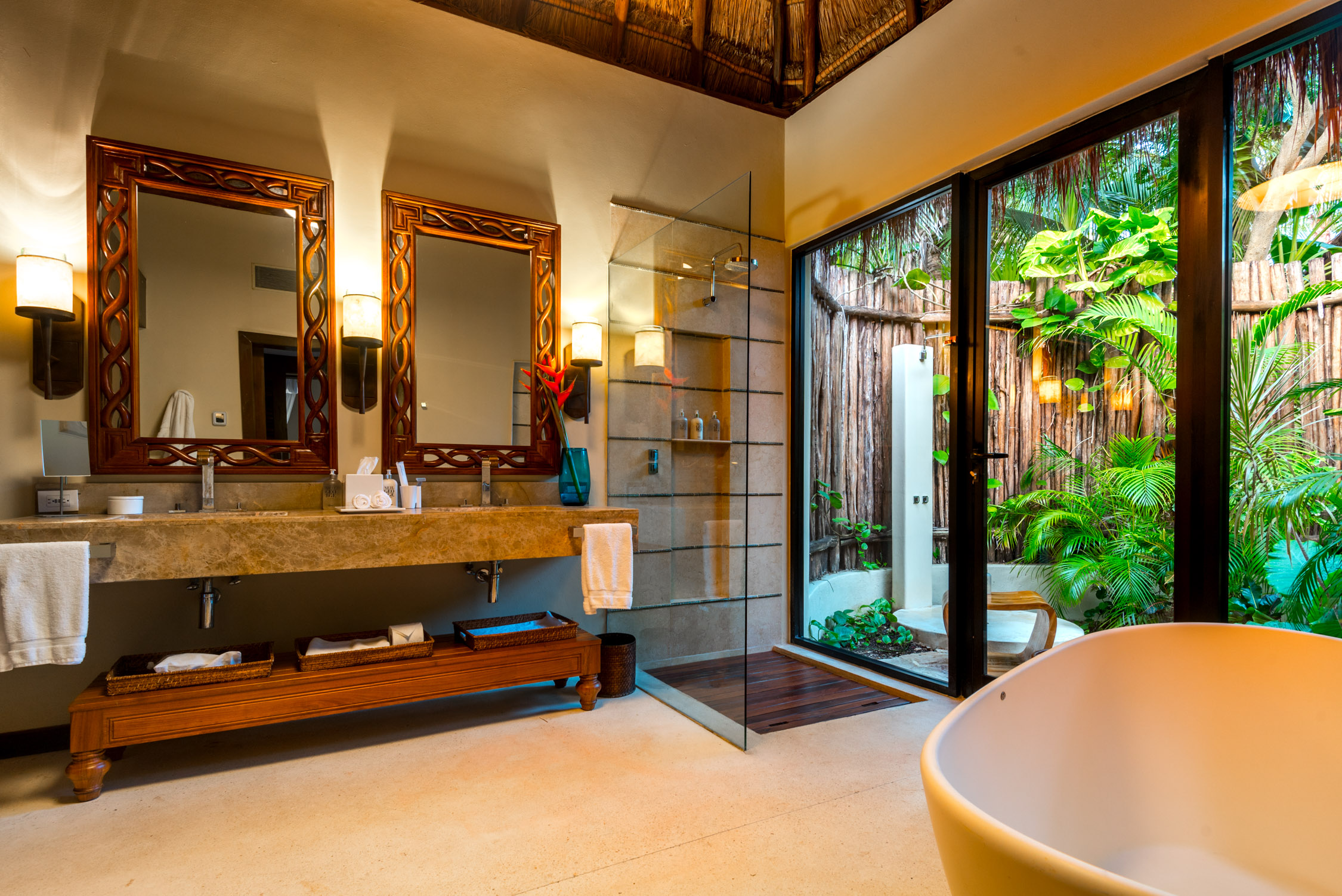 Usually the bedroom is my favorite part at a hotel - but at the Viceroy, Riviera Maya, it's definitely the bathroom!