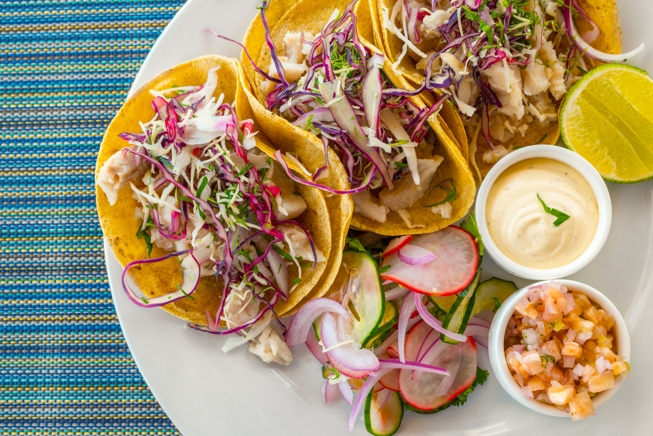 Always fresh and delicious! Fish tacos, seemed to be our lunch staple :)
