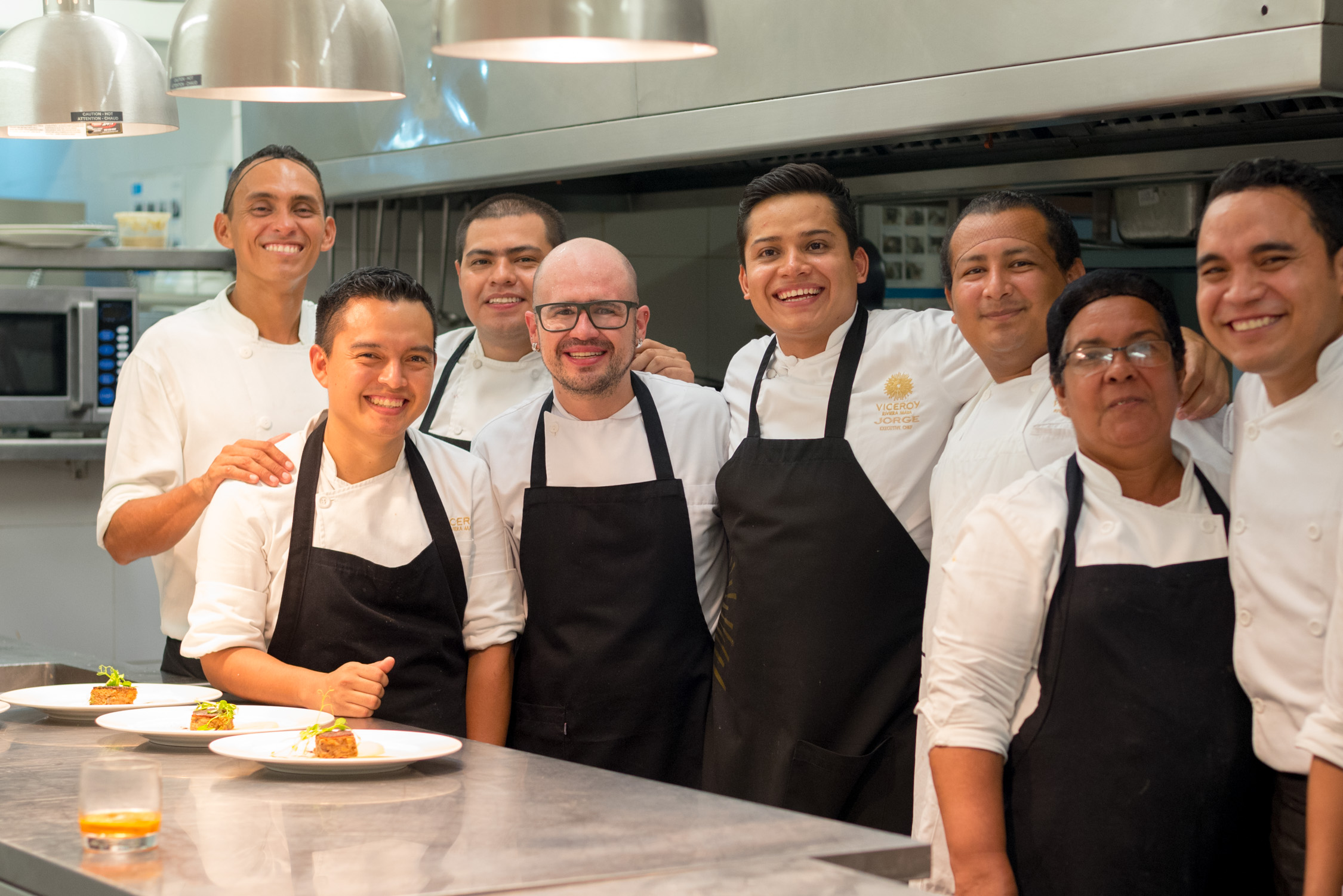 Chef Jorge from the Viceroy and Chef Pablo from Amaranta at La Marea