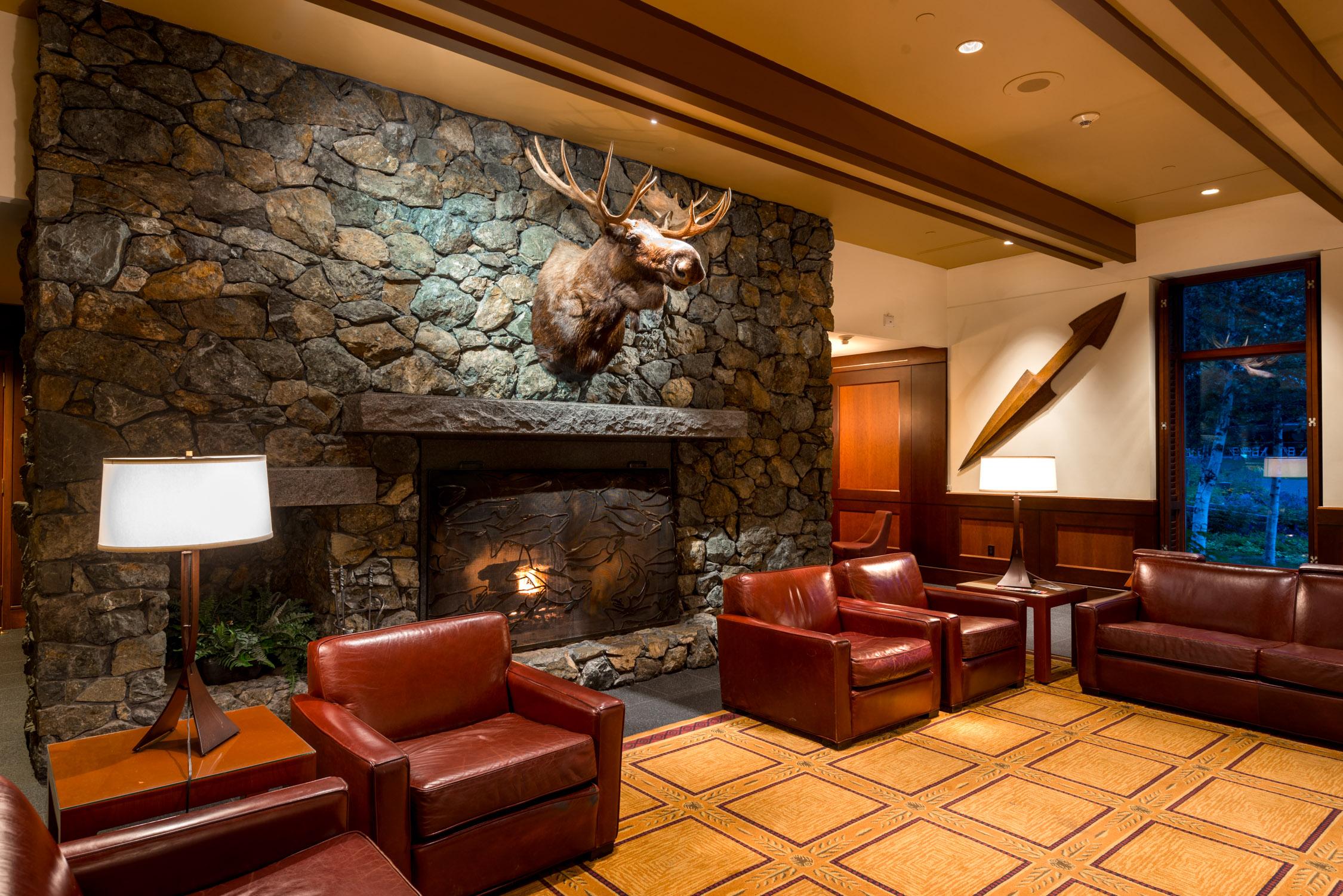 A cozy corner at  Alyeska Resort in Alaska